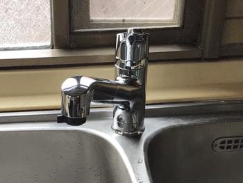 宇治市のトイレ手洗い場の蛇口水漏れ修理後の様子