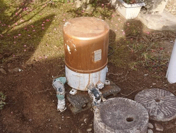和歌山市の井戸ポンプ故障の様子