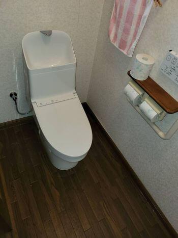 海南市のトイレ交換後の様子