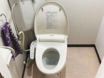 五條市のトイレのつまりが取れた様子