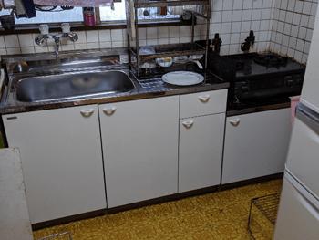 大阪市住吉区のキッチン流し台入れ替えリフォーム後の様子
