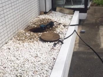 東大阪市の会社のトイレの排水管つまり