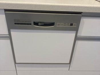 生駒市の故障した食洗器の様子