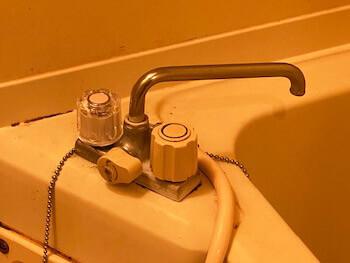 湖南市の浴室蛇口の水漏れを修理した後の様子