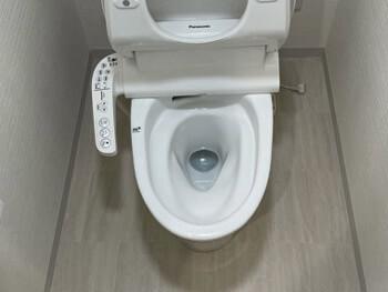 甲賀市のトイレの詰まりが解消した様子