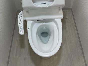 甲賀市のトイレが詰まっている様子
