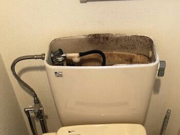 大阪市平野区のトイレ水漏れの様子