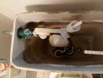 和歌山市のトイレの水漏れの様子
